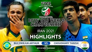 Brazil vs India | Boys U19 World Champs 2021 | Highlights | Buczmiejuk Arthur vs Choudhary Tanish