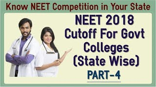 NEET 2018 Cutoff For Govt Medical College - State & Category Wise Part 4