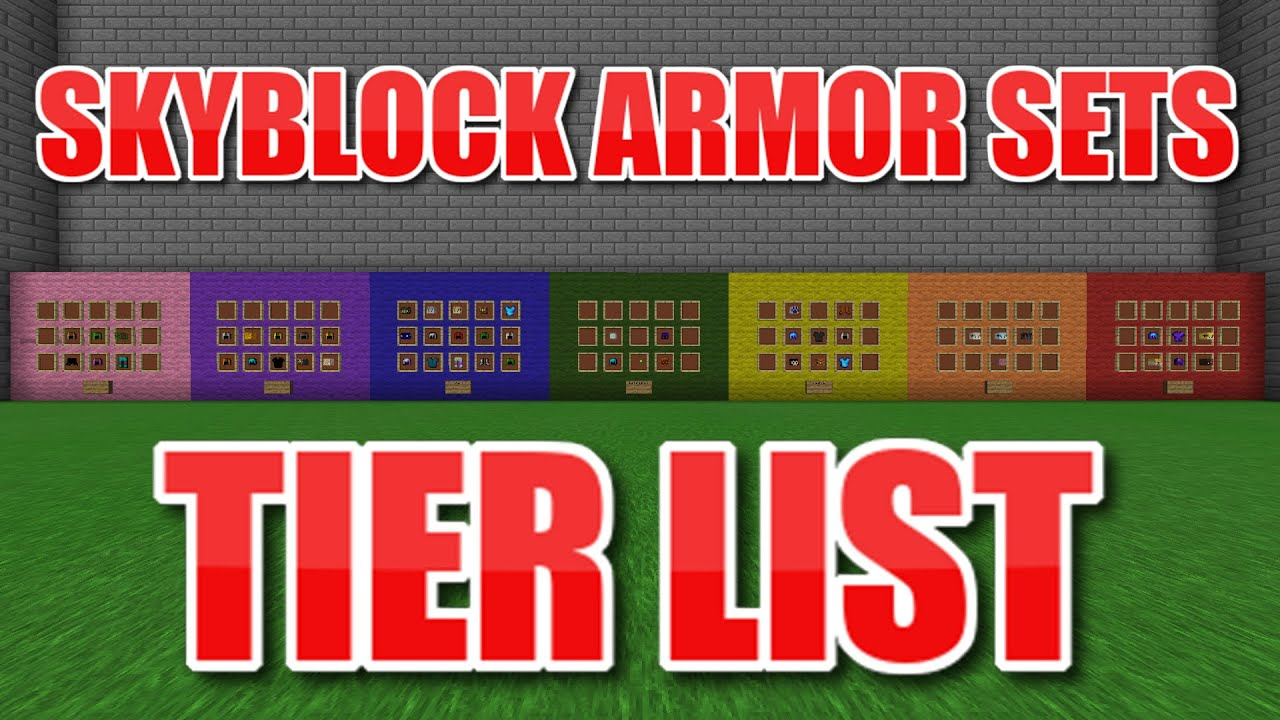 Ranking All Armor Sets In Hypixel Skyblock Youtube What are all the dragon armors ranked against each other. all armor sets in hypixel skyblock