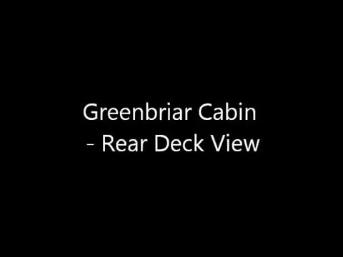 Greenbriar Cabin Rear Deck View @ Hocking Hills