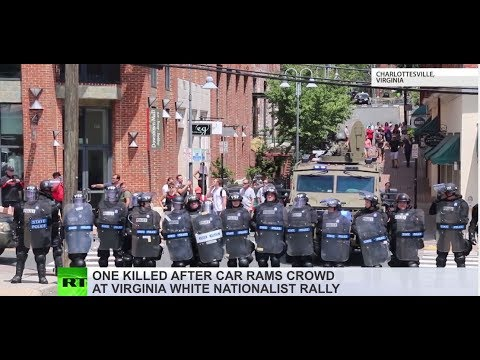 Charlottesville rally: Deadly car rampage, violent clashes & police helicopter crash