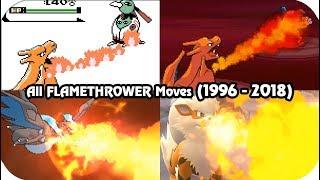 Video Evolution of Pokémon Moves - Flamethrower (1996 - 2018) download MP3, 3GP, MP4, WEBM, AVI, FLV Oktober 2018