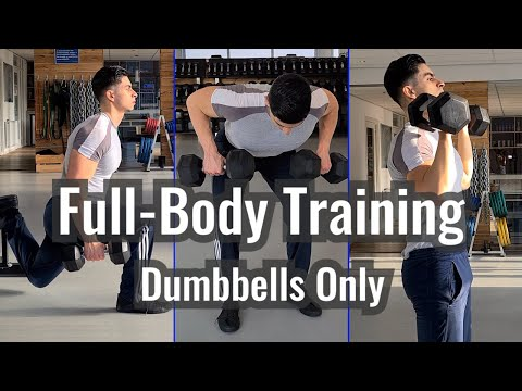 7 Effective Dumbbell Full-Body Exercises (+ Workout Routine)