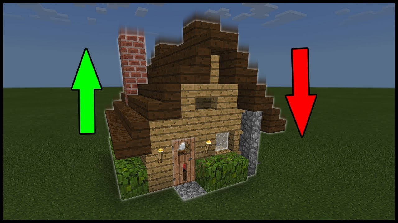 Minecraft Command Block - Pop-up House