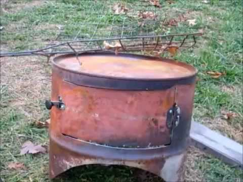Diy Barrel Stove Oven Simply Living Youtube