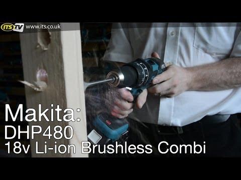 Makita DHP480 18v Li-ion Brushless Combi Drill - ITS TV