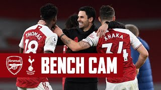BENCH CAM | Arsenal vs Tottenham (2-1) | Pure derby delight at Emirates Stadium! | Premier League