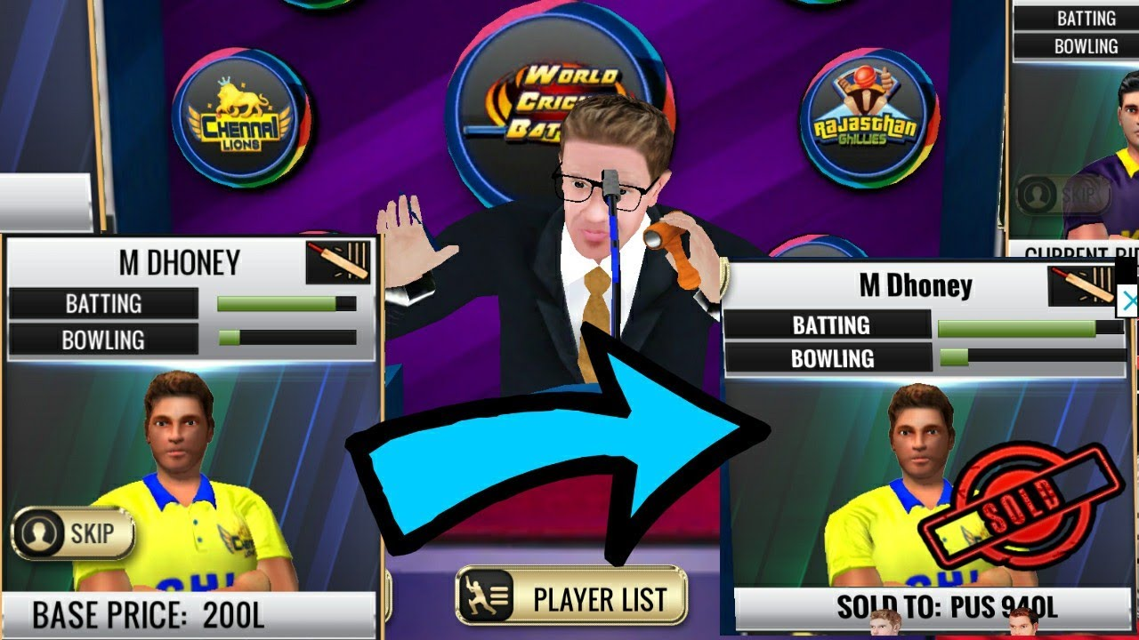 WCB IPL / PCL 2019 Auction Update v 1 6 0 Full Review World Cricket Battle  aNdroid / IOS Gameplay