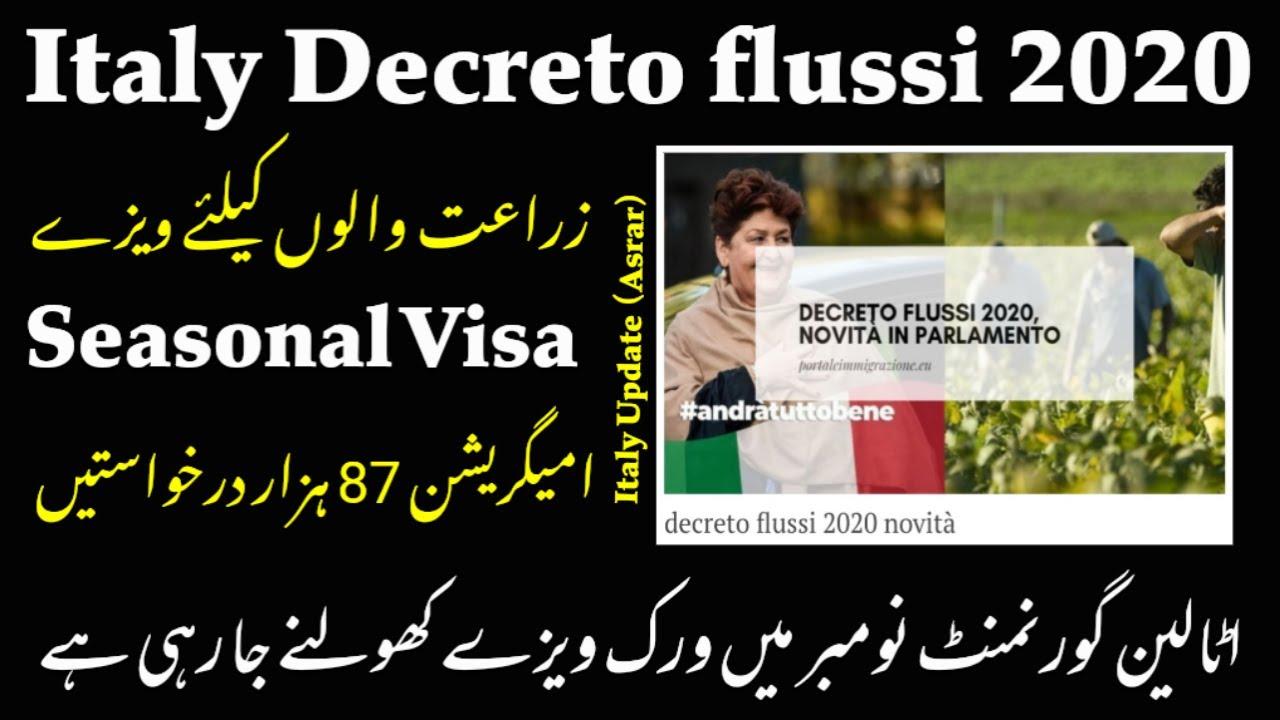 Italy decreto flussi 2020 open date