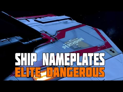 Elite Dangerous - Ship Nameplates and First 30mins as a Gunner