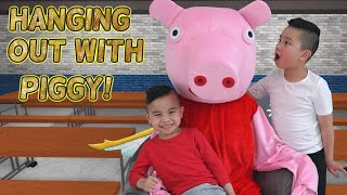 Hanging Out With PIGGY For a Day