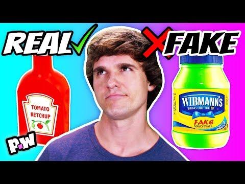 REAL VS FAKE Condiments + Sauces Taste Test!