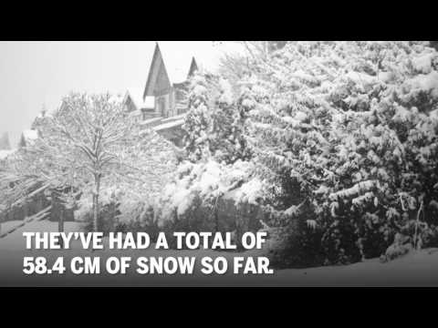 Just how bad is the snow in Vancouver?
