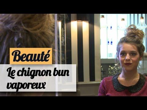 Chignon haut décoiffé - Tuto coiffure - YouTube
