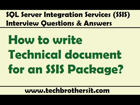 SQL Server Integration Services - How to write Technical document for an SSIS Package