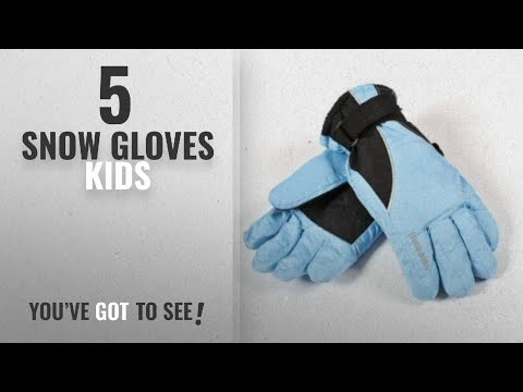 Top 10 Snow Gloves Kids [2018]: Childs Thinsulate Ski Gloves With Palm Grip, 5 Sizes, 4 Colours