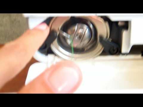 Как заправить шпульку в швейную машинку janome