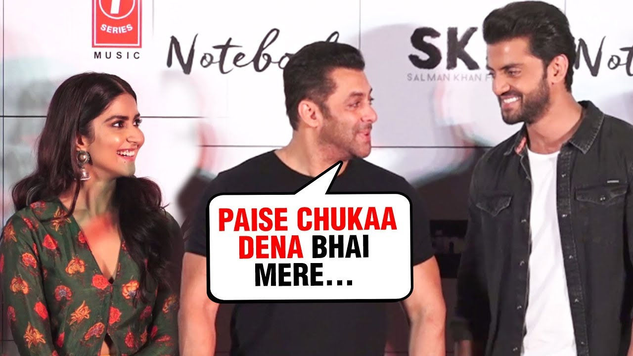 Salman Khan PRAISES Newcomers Pranutan Bahl and Zaheer Iqbal | Notebook Trailer Launch