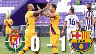 Real Valladolid vs Barcelona [0-1], La Liga, 2020 - MATCH REVIEW