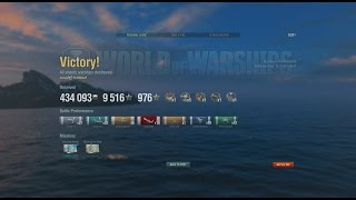 World of Warships - Isokaze 10 Kill 223k DMG Epic Solo Warrior