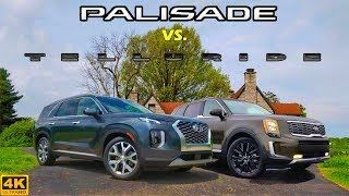 NEWCOMER BATTLE! -- 2020 Hyundai Palisade vs. 2020 Kia Telluride: Comparison