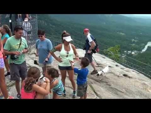 A Climb Up Chimney Rock NC