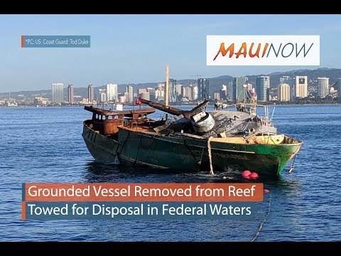Grounded Pacific Paradise Removed from Reef, Sunk Offshore