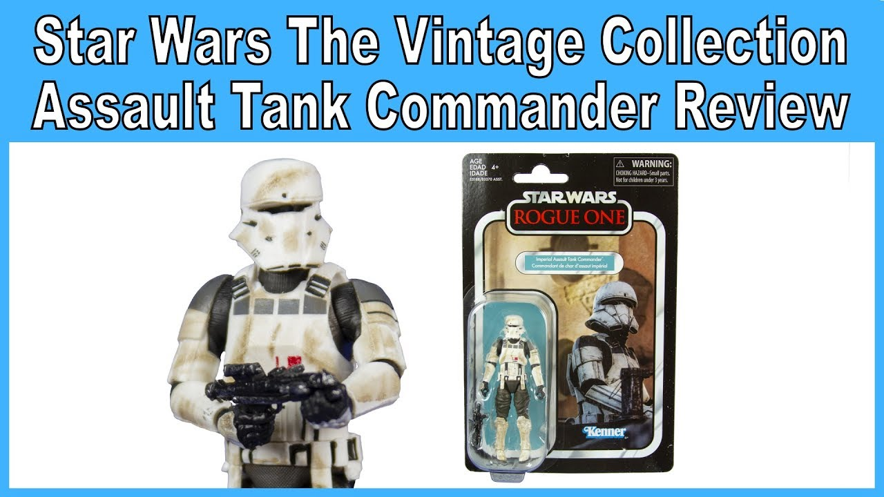 Imperial Assault Tank Commander-VC148 Star Wars vintage