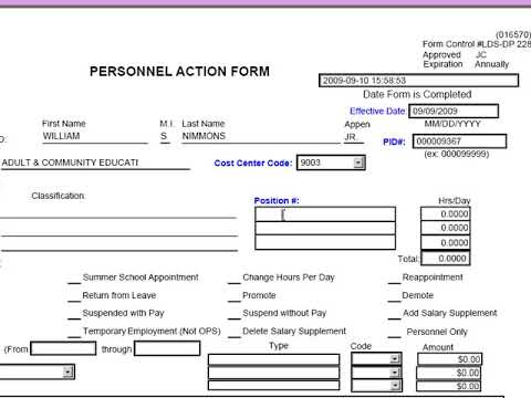 03 Forms - PAF (Personnel Action Forms)