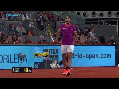 Incredible game between Nadal and Goffin | Mutua Madrid Open 2017 Highlights Day 6