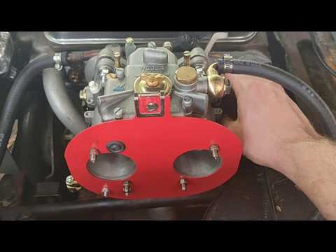 INSTALLING WEBER 45 DCOE CARBURATOR AND HEADER TO 1963 AUSTIN HEALEY SPRITE part 1