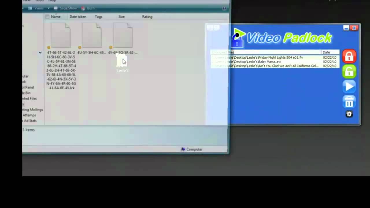 Video Padlock: Video Encryption