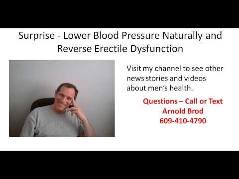 Surprise -  Lower Blood Pressure Naturally and Reverse Erectile Dysfunction