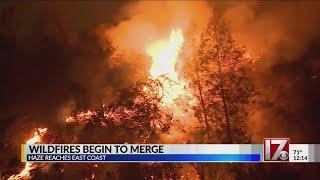 California wildfires begin to merge