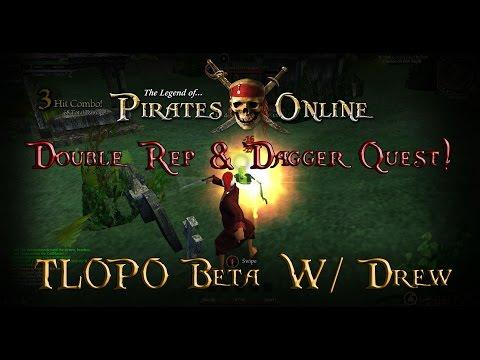 The Legend of Pirates Online Beta #4 - Double Rep & Dagger Quest!