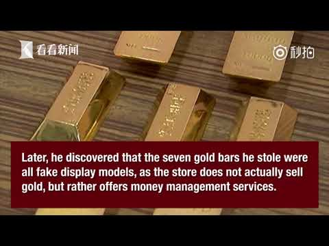 Man steals gold bars only to find out that they're all fake display models