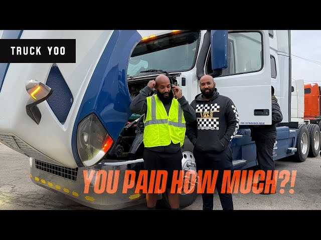 Owner operators bought a Volvo D13 Semi truck. You said how much did you  pay??!