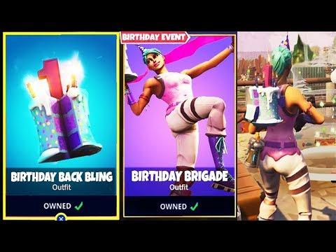 """how to Unlock FREE """"Birthday Cake"""" Back Bling & Skins in Fortnite!"""