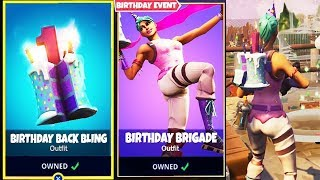 "how to Unlock FREE ""Birthday Cake"" Back Bling & Skins in Fortnite!"
