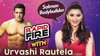 Urvashi Rautela DHAMAKEDAR Rapid Fire | Salman Khan As Bodybuilder, Shahrukh Khan As Acting Tutor