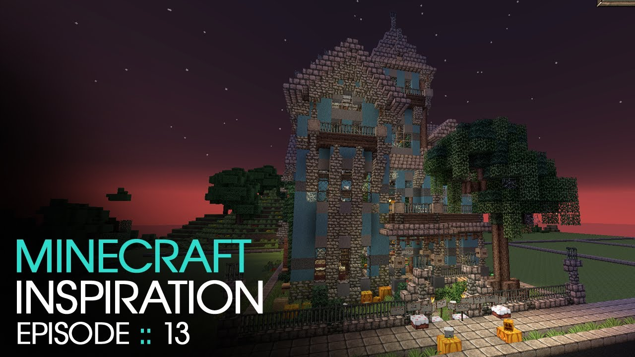 Minecraft halloween haunted house inspiration w for House inspiration