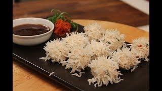 Chicken Flower Dumpling  Chinese Recipes  Sanjeev Kapoor Khazana