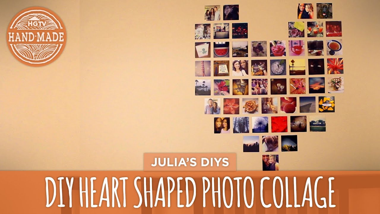 DIY Heart Photo Collage - HGTV Handmade - YouTube