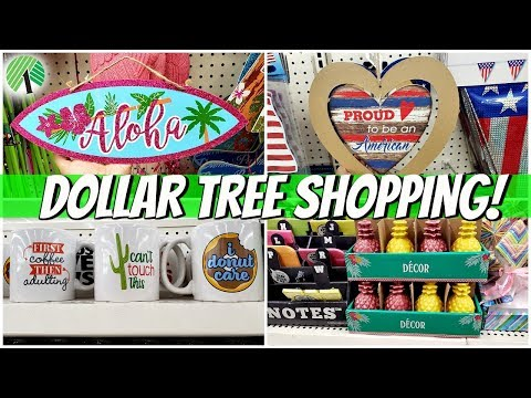 Dollar Tree SHOPPING  Summer Decor SHOP WITH ME 2019
