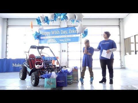 Zeke S Wish Day At Denny Menholt Rapid Chevrolet Youtube