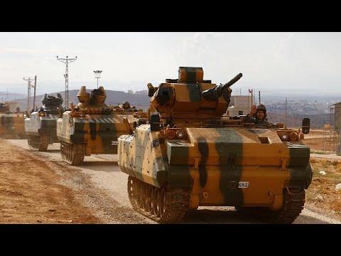 Turkish army convoy