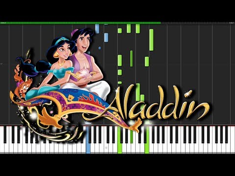 A Whole New World  Aladdin Piano Tutorial Synthesia  Wouter van Wijhe