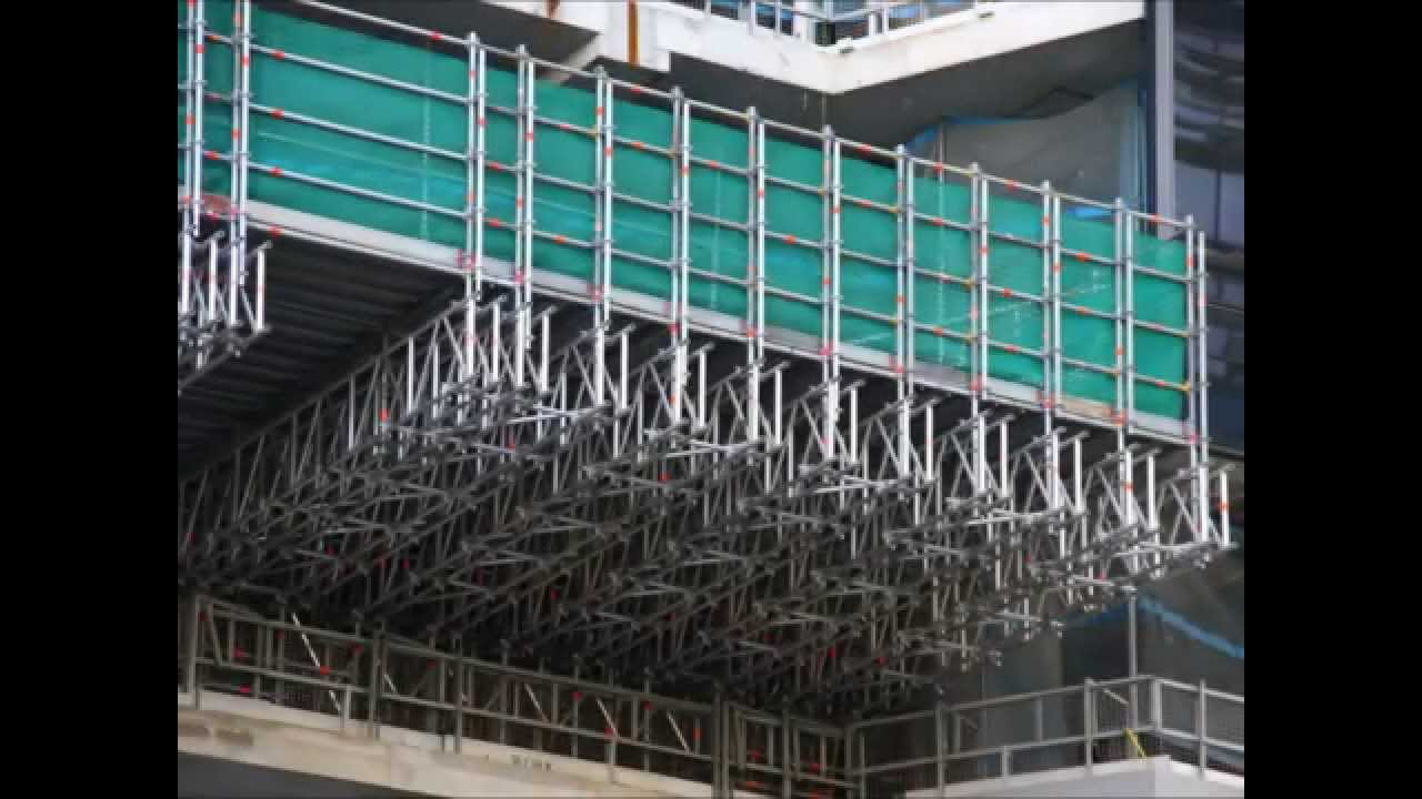 ROLL OUT - CANTILEVER 5KPA OHP DECK - ABOVE SCAFFOLDING