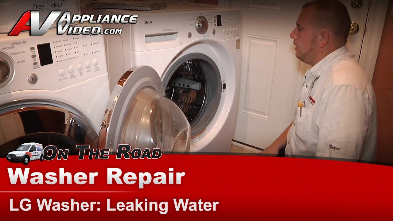Washing Machine Leaking >> LG Washer Repair & Diagnostic - Leaking Water from front & bottom seals - WM2101HW - YouTube