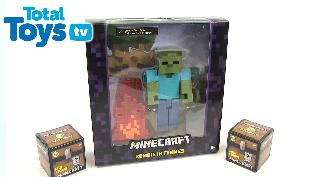 Minecraft Zombie in Flames Figure Review